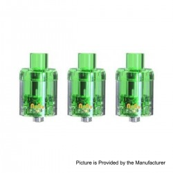Authentic Sikary Vapor Nunu Disposable Sub Ohm Tank Clearomizer - Green, 3ml, 0.15 Ohm, 24mm Diameter (3 PCS)