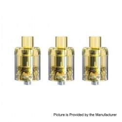 Authentic Sikary Vapor Nunu Disposable Sub Ohm Tank Clearomizer - Yellow, 3ml, 0.15 Ohm, 24mm Diameter (3 PCS)
