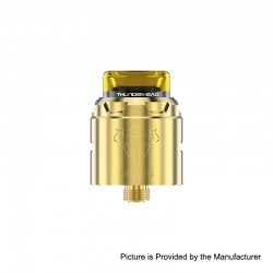 Authentic ThunderHead Creations THC Tauren Solo RDA Rebuildable Dripping Atomizer w/ BF Pin - Brass, 2ml, 24mm Diameter