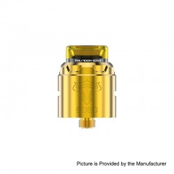 Authentic ThunderHead Creations THC Tauren Solo RDA Rebuildable Dripping Atomizer w/ BF Pin - SS Gold, 2ml, 24mm Diameter