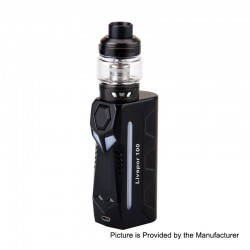 Authentic Yosta Livepor 100W TC VW Box Mod + IGVI M2 Tank Kit - Black, 5~100W, 1 x 18650 / 20700 / 21700, 6ml, 0.15 Ohm