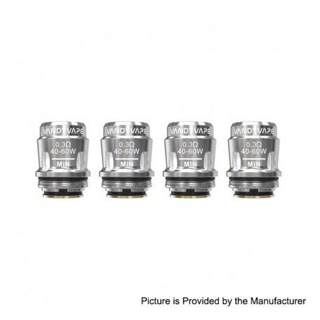 Authentic Vandy Vape Replacement Mesh Coil Head for Jackaroo Tank / Jackaroo Kit - 0.3 Ohm (40~60W) (4 PCS)
