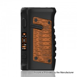 Authentic Vandy Vape Jackaroo 100W TC VW Variable Wattage Box Mod - Orange Viper, 5~100W, 1 x 18650 / 20700 / 21700