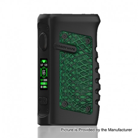 Authentic Vandy Vape Jackaroo 100W TC VW Variable Wattage Box Mod - Green Anaconda, 5~100W, 1 x 18650 / 20700 / 21700
