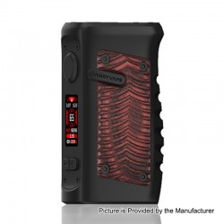 Authentic Vandy Vape Jackaroo 100W TC VW Variable Wattage Box Mod - Red Ridge, 5~100W, 1 x 18650 / 20700 / 21700