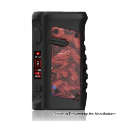 Authentic Vandy Vape Jackaroo 100W TC VW Variable Wattage Box Mod - Red Pomegranate, 5~100W, 1 x 18650 / 20700 / 21700