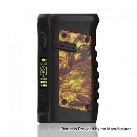 Authentic Vandy Vape Jackaroo 100W TC VW Variable Wattage Box Mod - Gold Agate, 5~100W, 1 x 18650 / 20700 / 21700