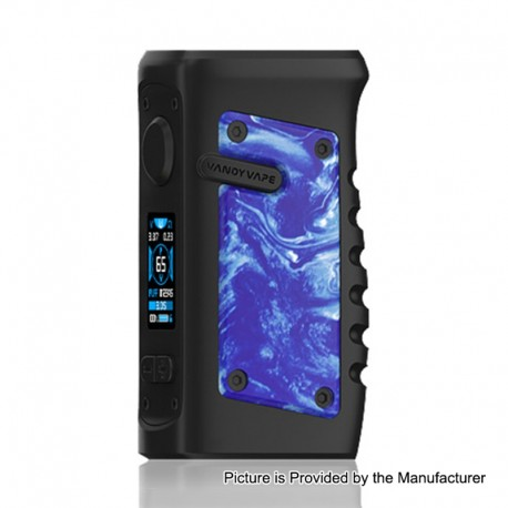 Authentic Vandy Vape Jackaroo 100W TC VW Variable Wattage Box Mod - Blue Porcelain, 5~100W, 1 x 18650 / 20700 / 21700