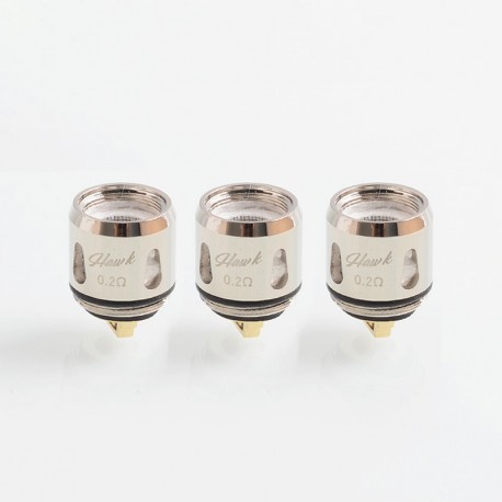 Authentic Vapor Storm Replacement Mesh Coil Head for Hawk Tank - 0.2 Ohm (20~80W) (3 PCS)
