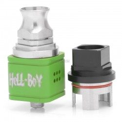 Hellboy Style RDA Rebuildable Dripping Atomizer - Green, Stainless Steel