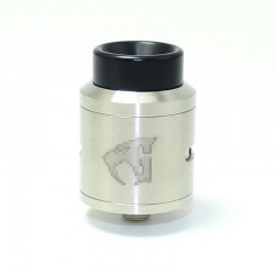 SXK Goon 1.5 Style RDA Rebuildable Dripping Atomizer w/ BF Pin - Silver, 316 Stainless Steel, 24mm Diameter