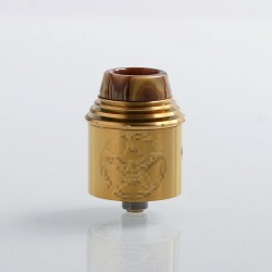 Vital Style RDA Rebuildable Dripping Atomizer w/ BF Pin - Brass, Stainless Steel, 24mm Diameter