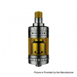 Authentic eXvape eXpromizer V4 MTL RTA Rebuildable Tank Atomizer - Brushed, Stainless Steel, 2ml, 23mm Diameter
