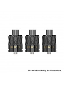 Authentic Augvape Jewel Disposable Mesh Sub Ohm Tank - Black, PC, 3ml, 0.15 Ohm, 26mm Diameter (3 PCS)