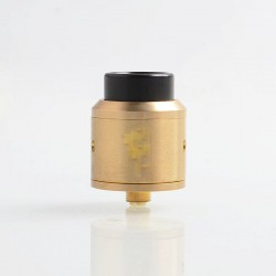Vapeasy Goon Style RDA Rebuildable Dripping Atomizer w/ BF Pin - Brass + 316 Stainless Steel, 25mm Diameter