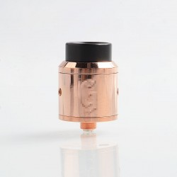 Goon 25 Style RDA Polished Version Rebuildable Dripping Atomizer w/ BF Pin- Copper, Copper, 24mm Diameter