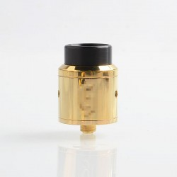 Goon 25 Style RDA Rebuildable Dripping Atomizer w/ BF Pin - Brass, Brass + Stainless Steel, 24mm Diameter