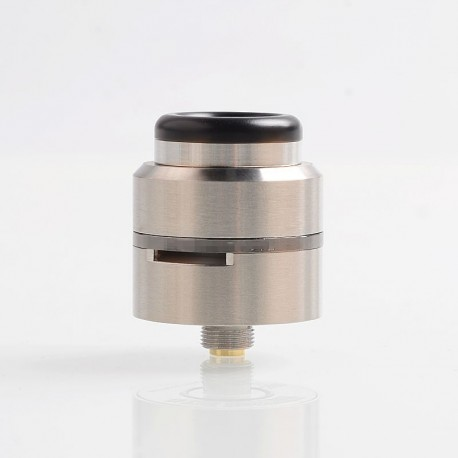 Layercake CSMNT V2 Style RDA Rebuildable Dripping Atomizer w/ BF Pin - Silver, Stainless Steel, 24mm Diameter