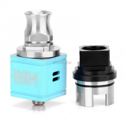 Hellboy Style RDA Rebuildable Dripping Atomizer - Blue, Stainless Steel