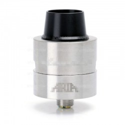 Sleeper Style RDA Rebuildable Dripping Atomizer - Silver, Stainless Steel, 24mm Diameter