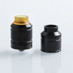 Kindbright Sherman Style RDA Rebuildable Dripping Atomizer w/ BF Pin - Black, 316 Stainless Steel, 25mm Diameter