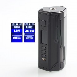Authentic Lost Vape Drone 200W DNA250C TC VW Squonk Box Mod - Black, 1~200W, 2 x 18650, 8ml, Evolv DNA250C Chip