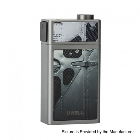 Authentic Uwell Blocks 90W Juice Pump Squonk Box Mod - Grey, 1 x 18650, 15ml