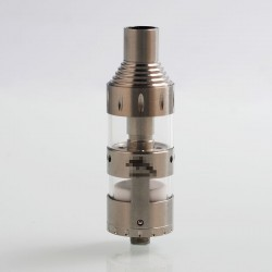 Dolphin Style RBDA RDTA Rebuildable Tank / Dripping Atomizer - Silver, Stainless Steel, 22mm Diameter