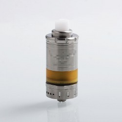 VG M5 Style MTL RTA Rebuildable Tank Atomizer - Silver, 316 Stainless Steel + PEI, 5ml, 23mm Diameter