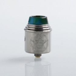 Vital Style RDA Rebuildable Dripping Atomizer w/ BF Pin - Silver, Stainless Steel, 24mm Diameter