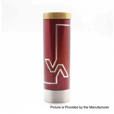 Vicious A Phenom Style Mechanical Tube Mod - Red, Stainless Steel, 1 x 18350