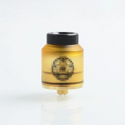 Do It Style RDA Rebuildable Dripping Atomizer w/ BF Pin - Yellow, Stainless Steel + Acrylic, 24mm Diameter