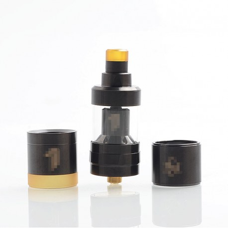 YFTK KF Prime Nite DLC Style RTA Rebuildable Tank Atomizer - Black, 316 Stainless Steel, 2ml, 22mm Diameter