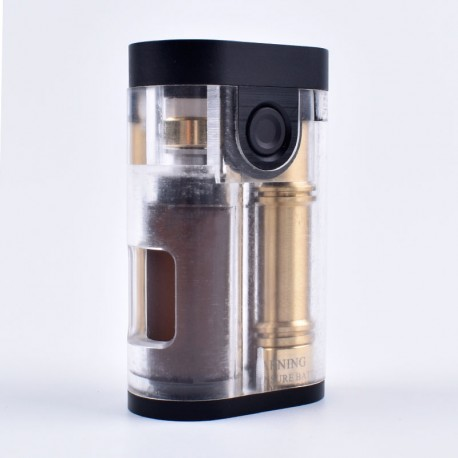 ShenRay Armor Style BF Squonk Mechanical Box Mod - Transparent, PMMA + Stainless Steel + Brass, 1 x 18650