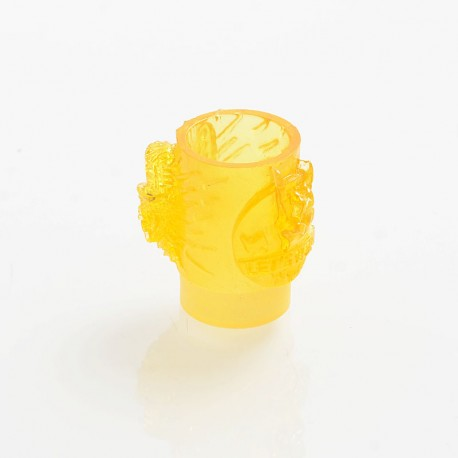 810 Rock Style Drip Tip for Goon / Kennedy / Reload / Battle RDA - Yellow, Resin, 21mm