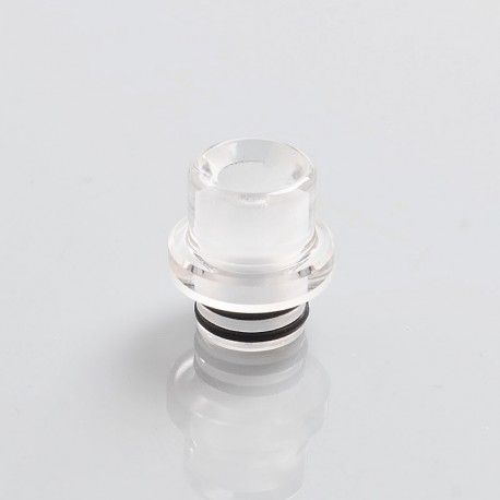 SteamTuners T9 Style 510 Drip Tip for RDA / RTA / Sub Ohm Tank - Transparent, PC, 14.5mm