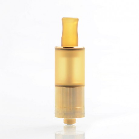 Dvarw Style MTL RTA Rebuildable Tank Atomizer - Gold, 316 Stainless Steel + PEI, 2ml, 16mm Diameter
