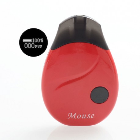 Authentic Cozyvape Mouse 13W 380mAh Pod System Starter Kit - Red, 2ml, 1.4 Ohm