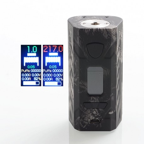 Authentic Hotcig G217 217W TC VW Variable Wattage Box Mod - Black, PC, 1~217W, 2 x 18650