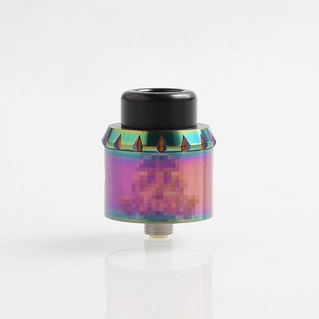 Apocalypse 25 Style RDA Rebuildable Dripping Atomizer w/ BF Pin - Rainbow, Stainless Steel, 25mm Diameter