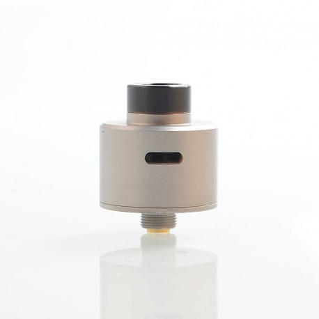 SXK WICK'D WICKD Style RDA Rebuildable Dripping Atomizer w/ BF Pin - Satin Silver, 316 Stainless Steel, 22mm Diameter