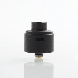 SXK WICK'D WICKD Style RDA Rebuildable Dripping Atomizer w/ BF Pin - Black, 316 Stainless Steel, 22mm Diameter