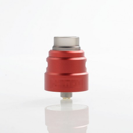 Reload S Style RDA Rebuildable Dripping Atomizer w/ BF Pin - Red, Aluminum + Stainless Steel, 24mm Diameter
