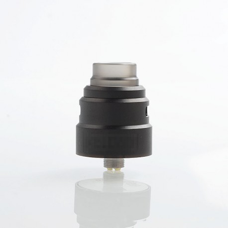 Reload S Style RDA Rebuildable Dripping Atomizer w/ BF Pin - Black, Stainless Steel, 24mm Diameter