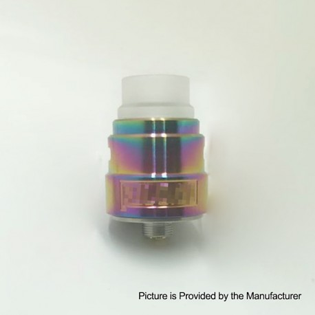 Reload S Style RDA Rebuildable Dripping Atomizer w/ BF Pin - Rainbow, Stainless Steel, 22mm Diameter