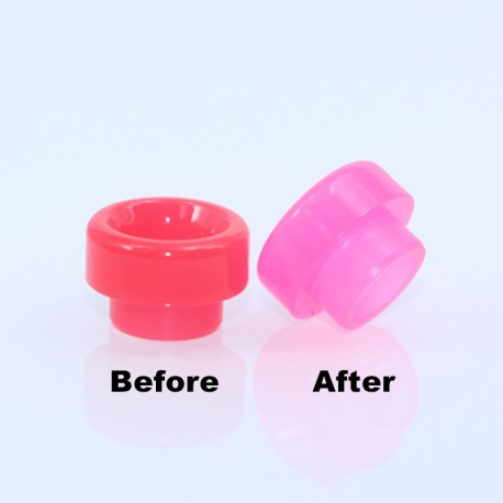 810 Color Changing Drip Tip for 528 Goon / Kennedy / Reload RDA - Red, Resin, 11.5mm