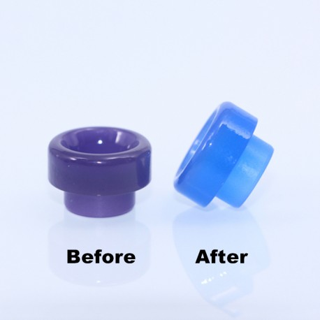 810 Color Changing Drip Tip for 528 Goon / Kennedy / Reload RDA - Purple, Resin, 11.5mm