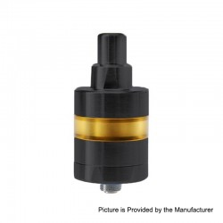 YFTK KF Lite 2019 Style RTA Rebuildable Tank Atomizer - Black, 316 Stainless Steel + PEI, 2ml, 22mm Diameter