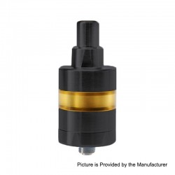 YFTK KF Lite 2019 Style RTA Rebuildable Tank Atomizer - Black, 316 Stainless Steel + PEI, 2ml, 24mm Diameter