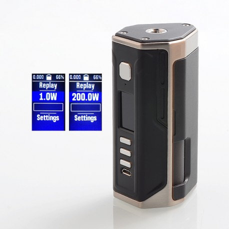 Authentic Lost Vape Drone 200W DNA250C TC VW Squonk Box Mod - SS Black, 1~200W, 2 x 18650, 8ml, Evolv DNA250C Chip